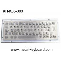 Buy cheap Ruggedized Industrial Metal Keyboard For Info Kiosk , Compact Entry SS Keyboard from wholesalers