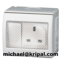 Quality 13A 15A 16A 250V 2 gang waterproof switched socket IP55 British standard for sale