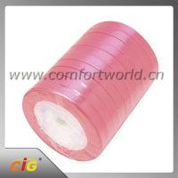 China Multiple Color Garments Accessories Double / Single Face Satin Ribbon 100% Polyester on sale