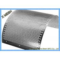 Quality 2mm Stainless Steel Perforated Metal Mesh Sheet Round Hole Punched Openings for sale
