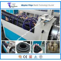Quality Plastic Cable Protecting Pipe Extrusion Line / PE Carbon Cable Pipe Making Machine for sale