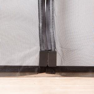 China Black Magnetic Fly Screen Mesh Door Curtain , Velcro Magnetic Screen Door Exterior on sale