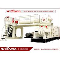 Quality Red Sintered Clay Brick Making Machine Vacuum Extruder All Steel Material for sale
