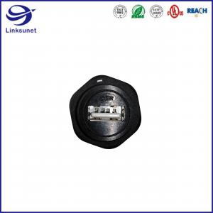 Quality USB 2.0 Type A Panel Mount Circular Connector for Data transmission wire harness for sale