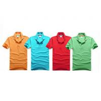 Quality Embroidery Cotton Polo Shirts Eco - Friendly Yarn Dyeing In A Variety Of Colors for sale