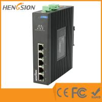 Quality Din Rail Unmanaged Ethernet Gigabit 5 Port Network Switch  1Gbps 0.9Mpps for sale