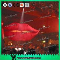 Quality Cartoon Advertising Inflatables Balloon , Giant Mouth Red Lip Customized Character for sale