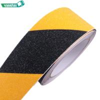 Quality Various sizes yellow black abrasive adhesive anti slip tape stair treads non skid tape waterproof for sale
