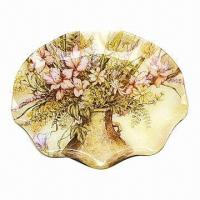 China Round-shape Fruit Tray, Customized Designs are Accepted, Durable and Non-toxic on sale