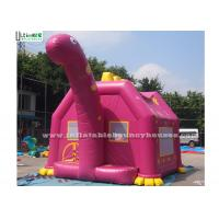 China Pink Dino Inflatable Bouncy Castles Commercial Grade Bounce Houses wholesale