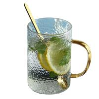 China Colored Espresso Glass Cup With Handle , Eco Friendly Double Wall Glass Tumbler on sale