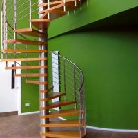 Quality Interior Modern Design Stainless Steel Glass Spiral Staircase for Attic for sale