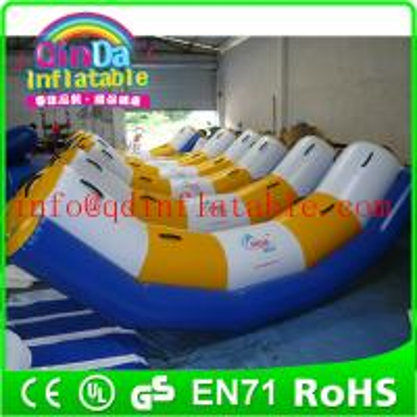 Buy Guangzhou QinDa inflatable water park water inflatable seesaw water teeterboard at wholesale prices