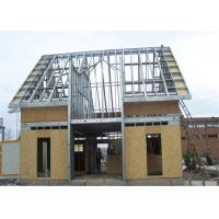 Quality Prefabricated Single Floor Light Steel Gauge House With Wall Board for sale