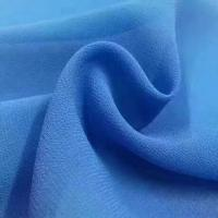 Quality 2018 the most popular wholesale high quality pearl chiffon fabric Mulinsen Woven Wholesale polyester dyed fabric for sale