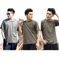 Cool Short Sleeve Army Green T Shirt Cotton Uniforms For Men