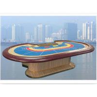 China 9 Person Mahogany PU Leather Armrest Casino Baccarat Table Gaming Galaxy Poker Table wholesale