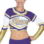 Customized Sexy Cheerleading Wear Tops with Medalist Metallic Crop