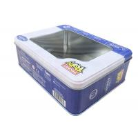 Quality Disney Brand Rectangular Metal Tins Logo Printed With Clear Window for sale