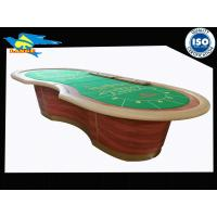 Buy cheap Standard Poker Game Table / Casino Baccarat Table For 14 Players from wholesalers