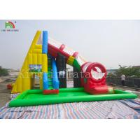 China Protecting Net Red Color Inflatable Pool Water Slide For Backyard EN14960 EN71 on sale