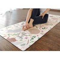 Buy cheap Eco Friendly Printed Yoga Mat Skid Resistance Unique Suede Surface from wholesalers