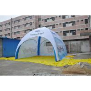 China Durable Inflatable Advertising Tent PVC Fabric Flame Retardant Anti UV Custom Logo Printed on sale