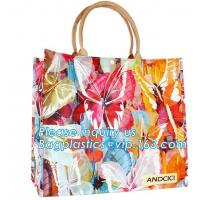 Buy cheap Pvc Travel Biodegradable Shopping Bags Drawstring Handle Handy Women Shopper from wholesalers