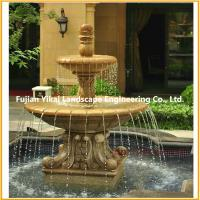 Quality Stone Fountain Carved Marble Water Fountain for Garden Outdoor (YKOF-32) for sale