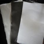 Quality Dust / Air / Powder Filtration Filter Press Cloth 360gsm E Glass Non Alkali Graphite Fiberglass Cloth for sale