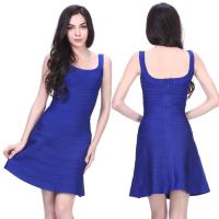 Quality Quality approval newest hot sell pretty blue short bodycon bandage dress for sale