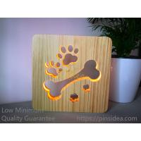 Quality Blank Wooden Laser Engrave Pet Aftercare Tribute Memorial LED Light Candle Bone and Paws, MOQ 1 PC for sale