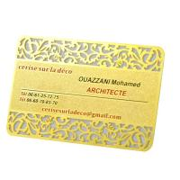 Quality Vip 	Rose Gold  Metal Business Cards Custom Engraved Golden Plated Advertisementing for sale