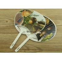 Quality Customized Magazine Hand Held Folding Fans Plastic Material Handwork Craft for sale