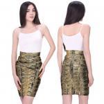 Fancy Soft fabric bronzing multi color one piece bandage dress mini skirt