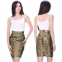 Buy Fancy Soft fabric bronzing multi color one piece bandage dress mini skirt at wholesale prices