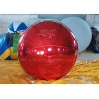 China Inflatable Christmas Decoration Balloons Personalised Red Mirror Ball wholesale
