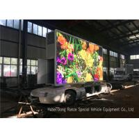 Quality Outdoor Full Color Mobile LED Advertising Trailer With Hydraulic Lifting System for sale