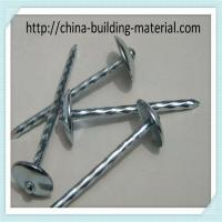 Quality BWG9 gauge X 2.5 inch roofing nail with screw shank for sale