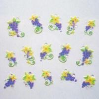 Quality 3D Nail Sticker with Lovely Design, OEM Orders are Welcome for sale