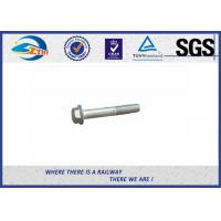 Quality DIN931 / 933 Hot Dip Galvanized Railway Bolt 8.8 Grade 45# Steel for sale