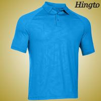 Buy Durable 100 Cotton embroidered Polo Shirts , Light Blue Polo Shirt at wholesale prices