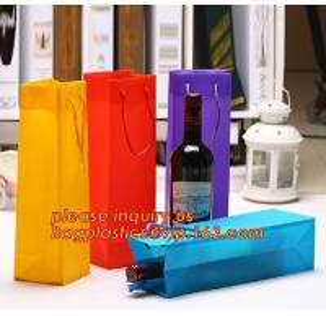 Quality Ribbon Handle eco friendly Plastic PP Package Bag for Flowers Bouquet,Semitransparent PVC Plastic Tote Bag Environmental for sale