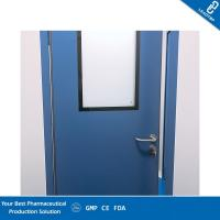 Quality Antimicrobial Coating Pharmaceutical Clean Room Door Seamless And Adjustable Hinges for sale
