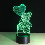 Quality Led 3D lamp Unicorn shape 3d night light for christmas decoration for sale