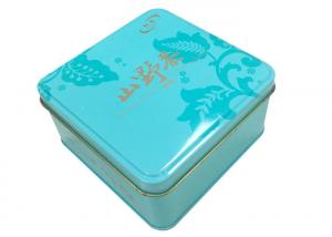 Quality 0.23mm Thickness Tinplate Square Gift Tin Box for sale