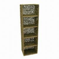 Quality Oblong Noodle Seagrass CD/DVD Tower, Made of Metal Frame, Easily Coordinate to Room Style for sale