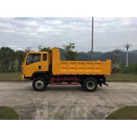 Quality Sinotruk Homan 4x2 10 Ton Dump Truck Yellow color Wheelbase 3450mm for sale
