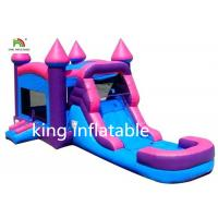 Quality Pink Girl Gaint Infltable Bounce House Dry Slide Commercial With CE Blower for sale