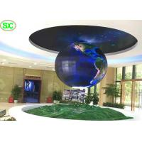 China 360 degree flexible Sphere advertising digital led display screens ball on sale